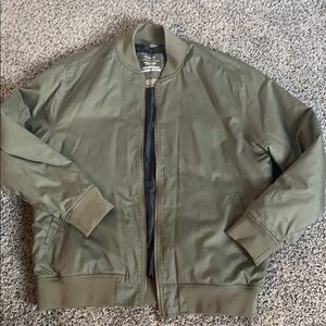 Green Bomber Jacket - Medium Weight and Worn Once